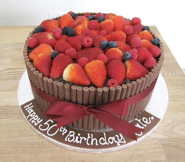 Chocolate and Summer Berries Cake