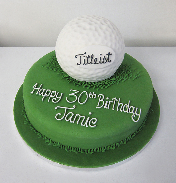 Golf Ball Novelty Cake