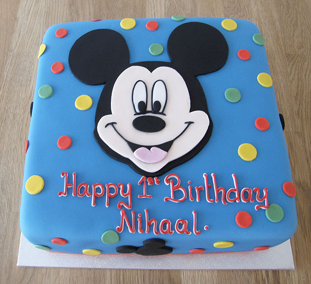 Mickey Mouse Spotty Cake