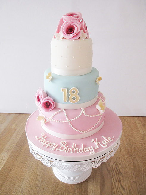 3 Tier 18th Birthday Cake