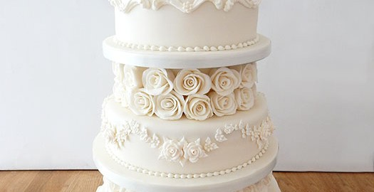 4 tier wedding cake with red roses wedding cakes archives page 12 of 14 the cakery 10424