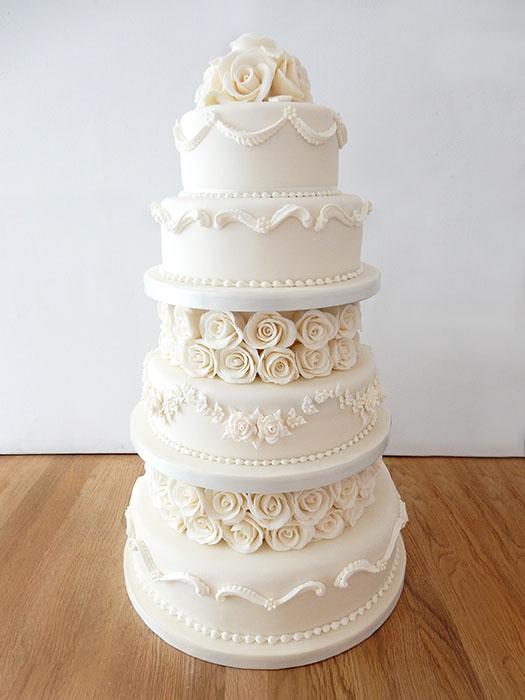 wedding cake cherry blossom wedding cake pastel wedding cake with ...