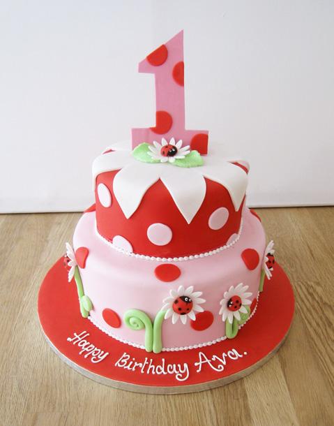 Ladybird 1st Birthday Cake