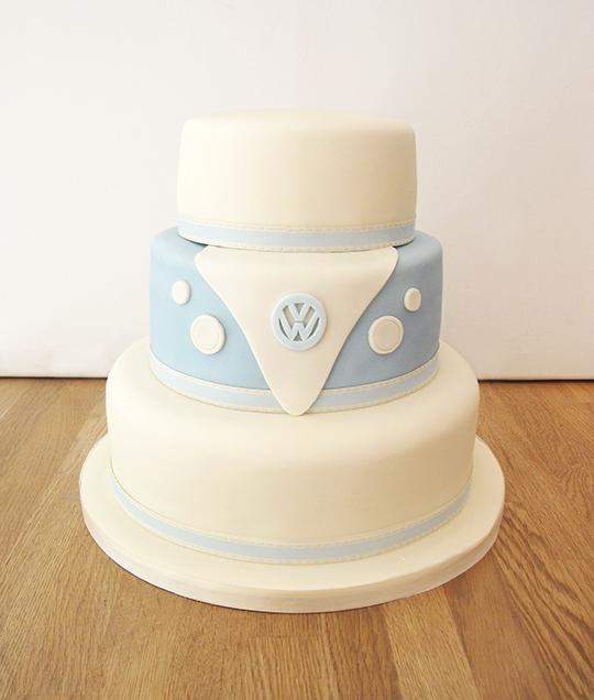 VW Campervan Themed Wedding Cake