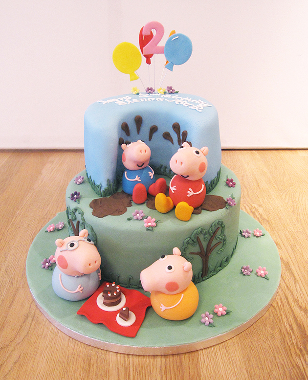 2 Tier Peppa Pig & Friends Cake