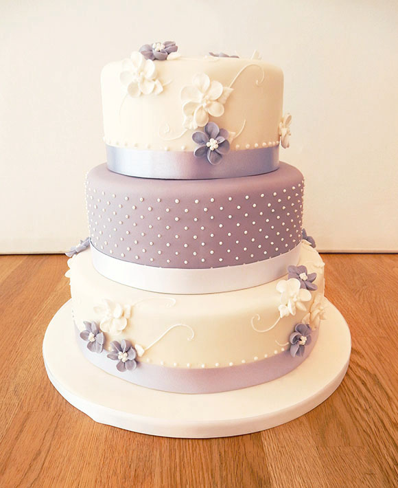 Lilac Spotty and Floral Wedding Cake1 birthday cakes in leamington spa 4 on birthday cakes in leamington spa