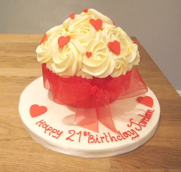 Red Heart Giant Cupcake