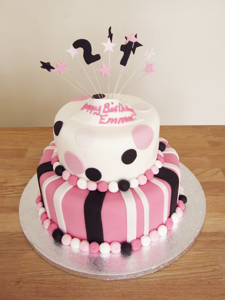 Stripes, Spots and Stars Cake