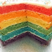 The Cakery's Rainbow Wedding Cake