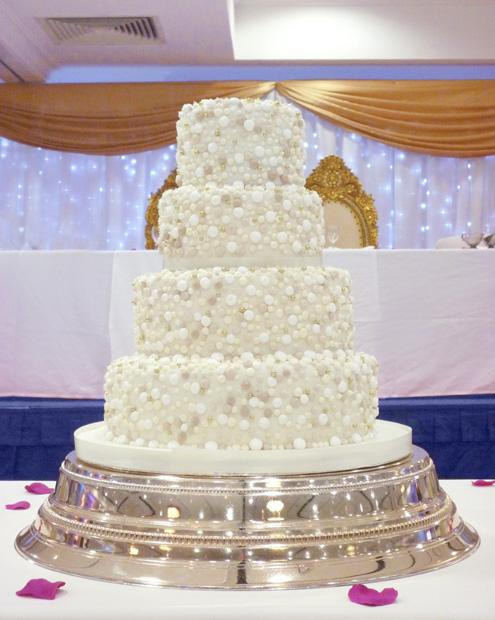 Bobbly Wedding Cake