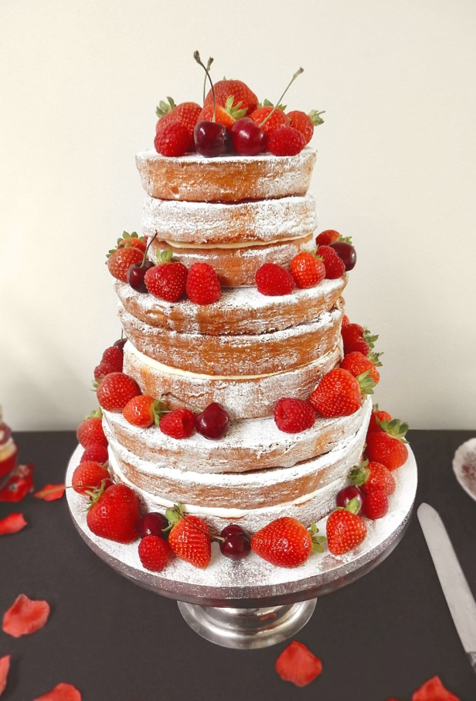 Naked Victoria Sponge Wedding Cake