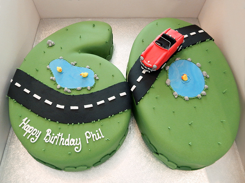 60th Birthday Driving Cake