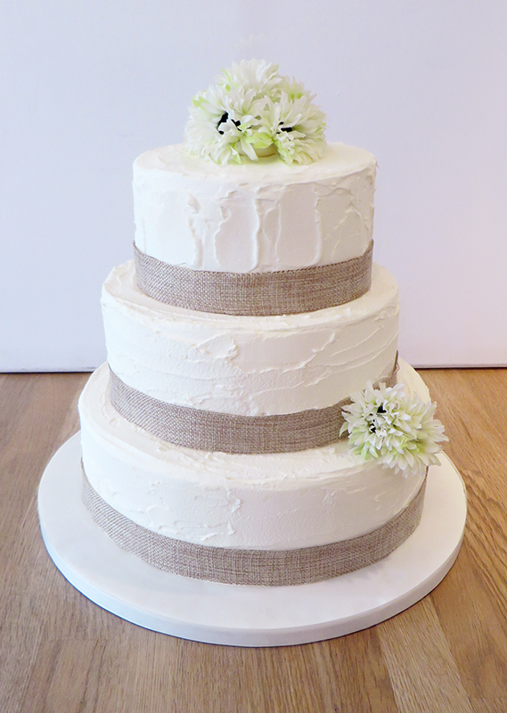 Buttercream Rustic Wedding Cake - The Cakery Leamington Spa
