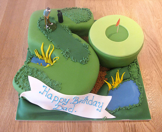 Golf 50th Birthday Cake