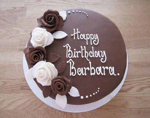 Chocolate Rose Birthday Cake