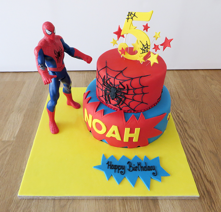 2 Tier Spider Man Cake