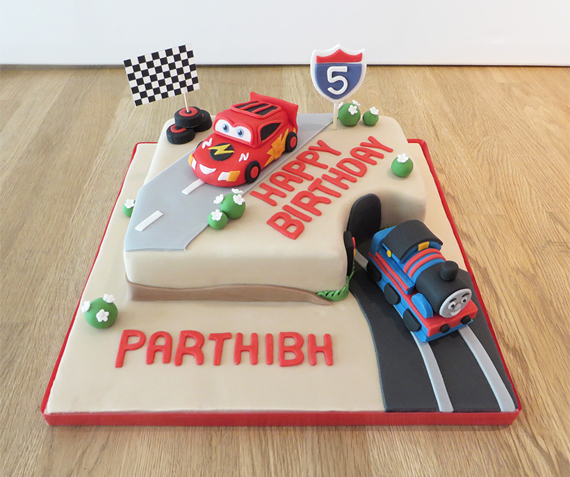 Cars Novelty Birthday Cake