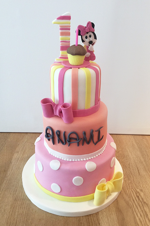 Minnie Mouse Three Tier Cake