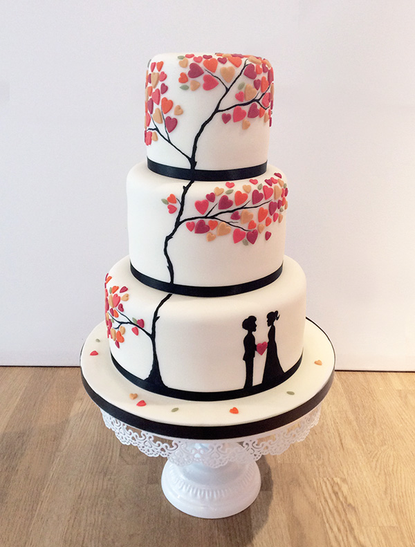 Tree of Love Wedding Cake