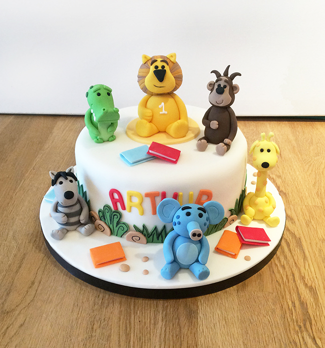First Birthday Cakes With Animals Image Inspiration of Cake and