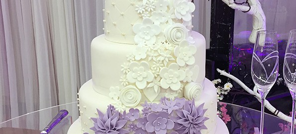 5 tier wedding cake with cascading flowers asian weddings archives the cakery leamington spa 10476