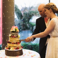 Our Naked Wedding Cake Featured on Friday Bride