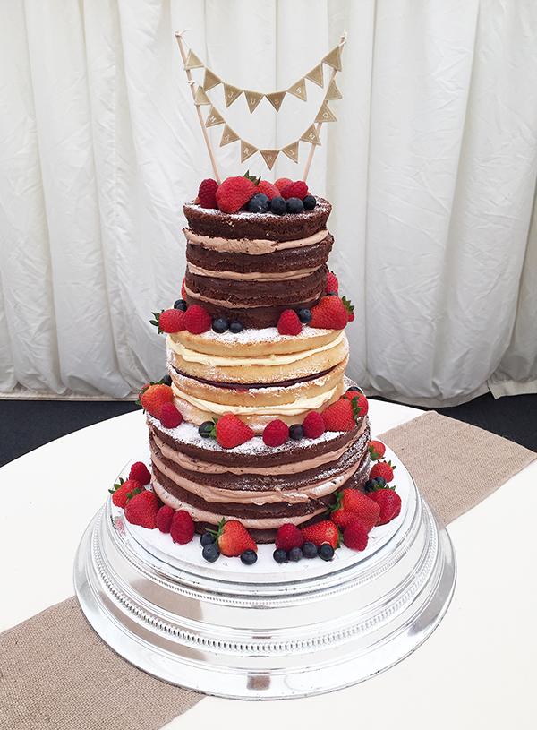 Choc and Vanilla Naked Wedding Cake